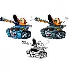 cartoon tanks vector image vector image