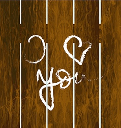 Fence with inscription I love you vector image