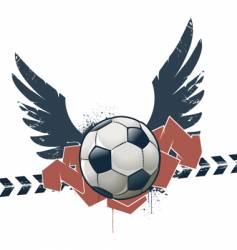 football graffiti vector image vector image