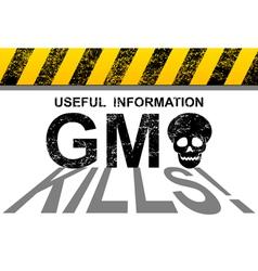 GMO kills vector image