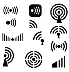 Radio waves vector image