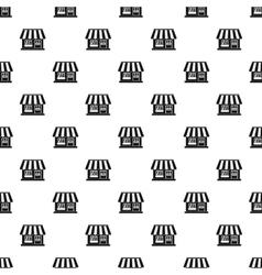 Shop building pattern simple style vector image