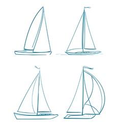 yachts symbols vector image