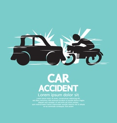 Car Crash With Motorcycle vector image