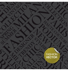 Fashion background words cloud vector image vector image