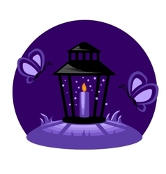 Funeral Candle In The Night vector image vector image