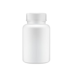 medical clean plastic bottle template vector image