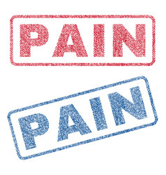 pain textile stamps vector image
