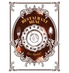 Restaurant Menu Vintage Cover vector image