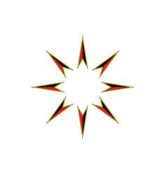 retro star icon vector image