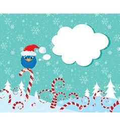Christmass candy bird vector image