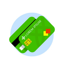 credit card flat icon credit cards front vector image vector image