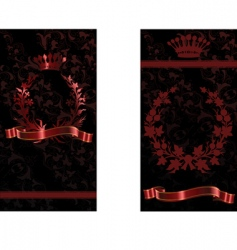 crown and flower vector image vector image