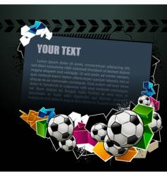 football graffiti banner vector image vector image