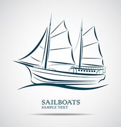 sailing boats vector image vector image