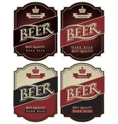 set beer premium vector image vector image