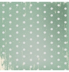 Vintage styled green background vector image