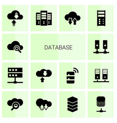 14 database icons vector
