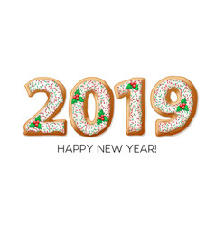 2019 gingerbread banner design vector image