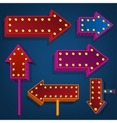Abstract direction arrows and bunners vector