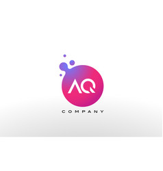 aq letter dots logo design with creative trendy vector image
