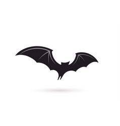 bat in flight wide wings black silhouette vector image