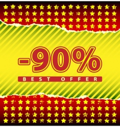 Best offer 90 percent off vector