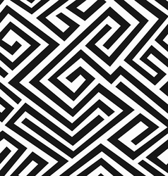 Black labyrinth seamless pattern vector