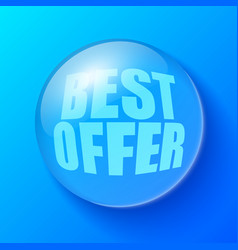 blue bubble with offer symbol vector image