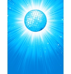 Blue disco rays with stars EPS 8 vector