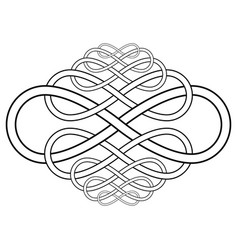 Calligraphy knot pattern from infinity symbol vector