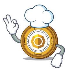 Chef komodo coin character cartoon vector