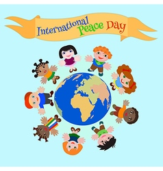 Childs peace day vector