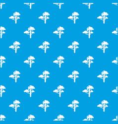 cloud tree pattern seamless blue vector image