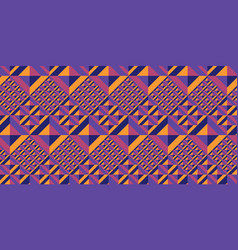 colorful geometry seamless pattern vector image