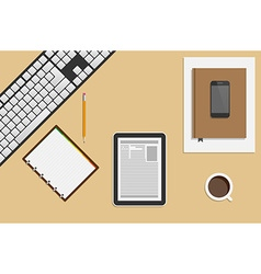 Creative Office Workplace Concept vector image