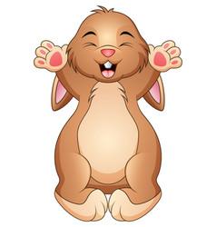 cute happy rabbit cartoon vector image