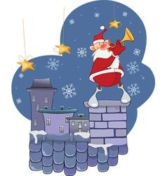 Cute Santa Claus Jazz Trumpet vector