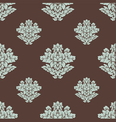 damask seamless pattern intricate design vector image