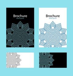 design cover brochure vector image