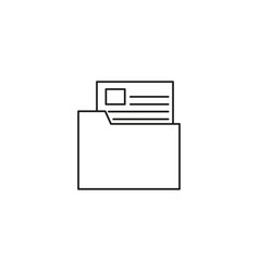 Document in folder documentation icon vector