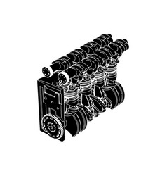 engine over white background vector image
