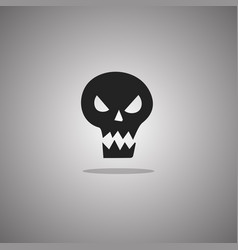 evil skull halloween isolated vector image
