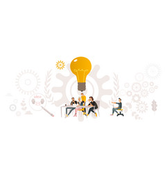 flat coworking team building worker table vector image