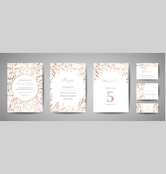Flower wedding save date invitation cards vector