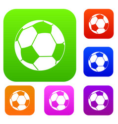 football ball set color collection vector image
