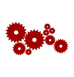 Gears in red design vector