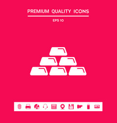 gold bullion gold bar icon graphic elements for vector image