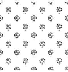 golf ball pattern seamless vector image