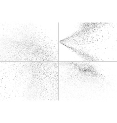 Grainy texture on white set vector
